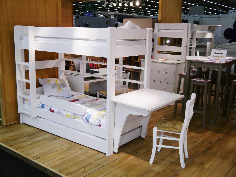 lit superpos en bois laque mathy by bols. Black Bedroom Furniture Sets. Home Design Ideas