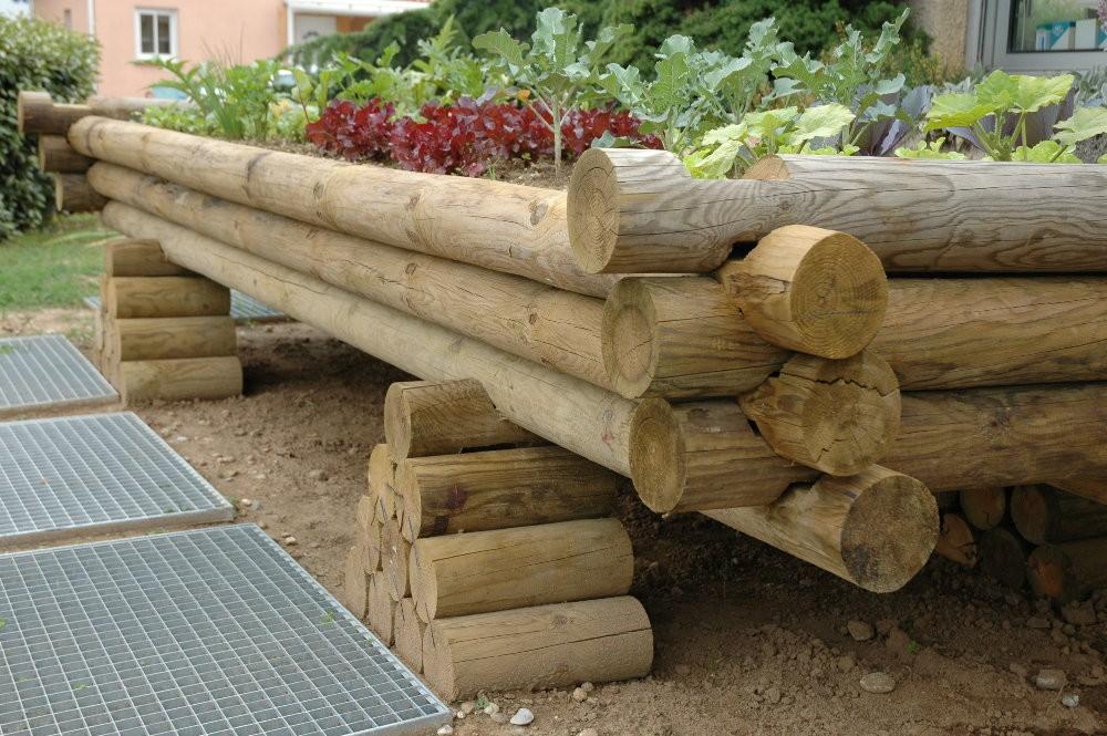 Jardiniere bois sur lev e un potager pour vos plantations - Jardin sureleve creation ...