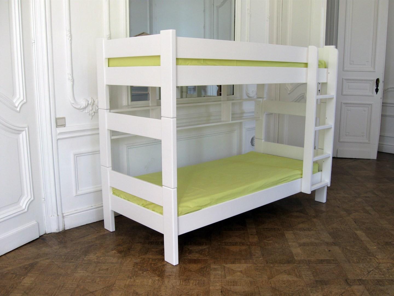 lit superpos en bois laque mathy by bols scandi vie. Black Bedroom Furniture Sets. Home Design Ideas
