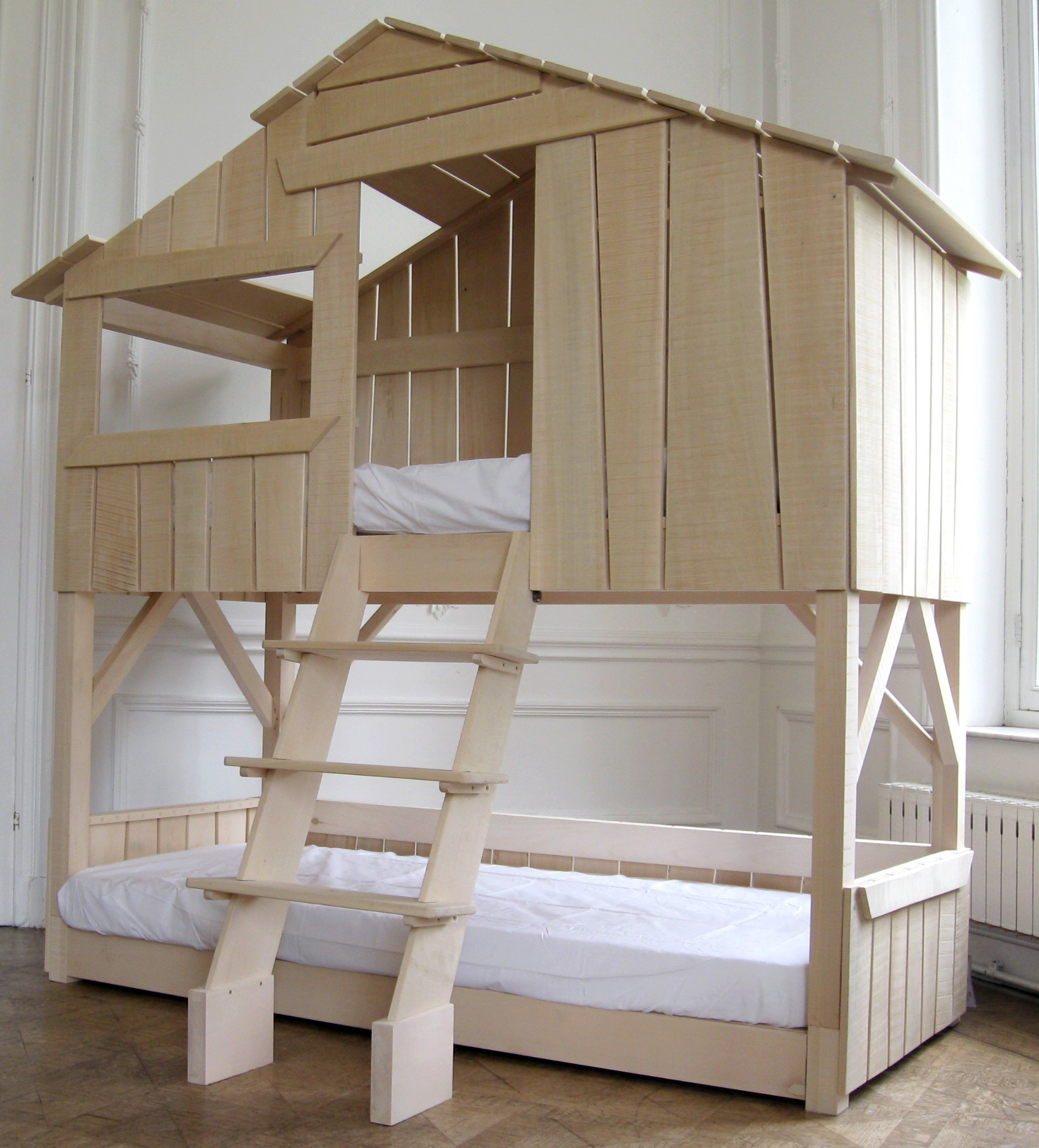 lit cabane enfant double couchage. Black Bedroom Furniture Sets. Home Design Ideas
