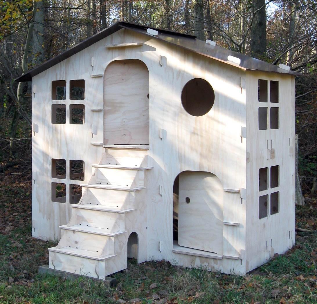 Cabane chalet lola pour enfant mathy by bols a 2 etages for Cabane jardin kit