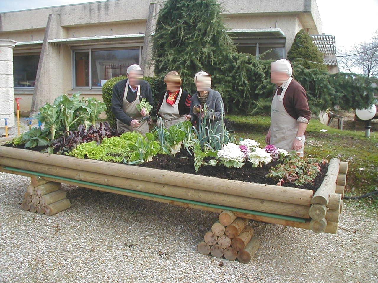 jardiniere bois sur lev e un potager pour vos plantations. Black Bedroom Furniture Sets. Home Design Ideas