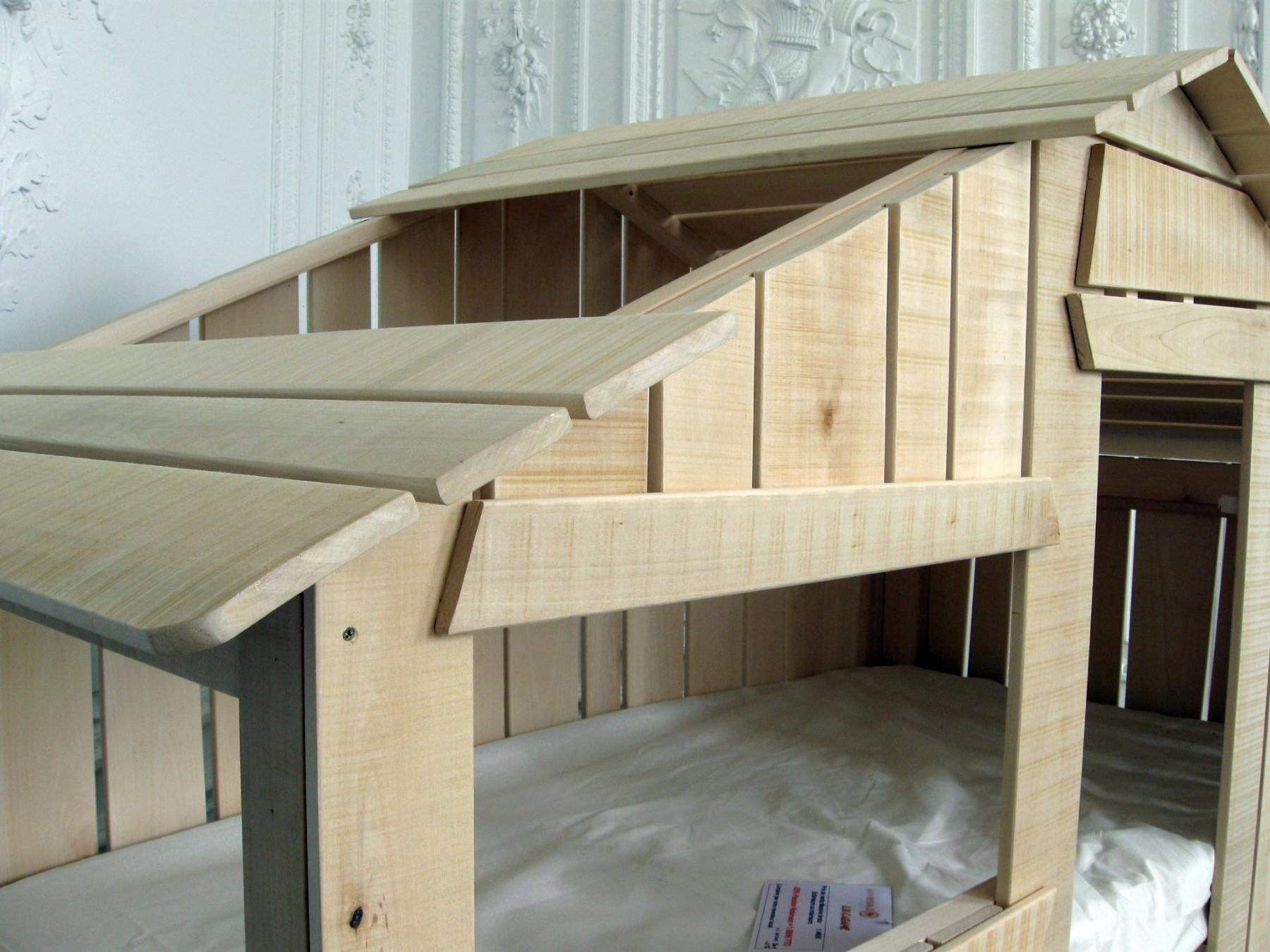 lit cabane enfant simple couchage