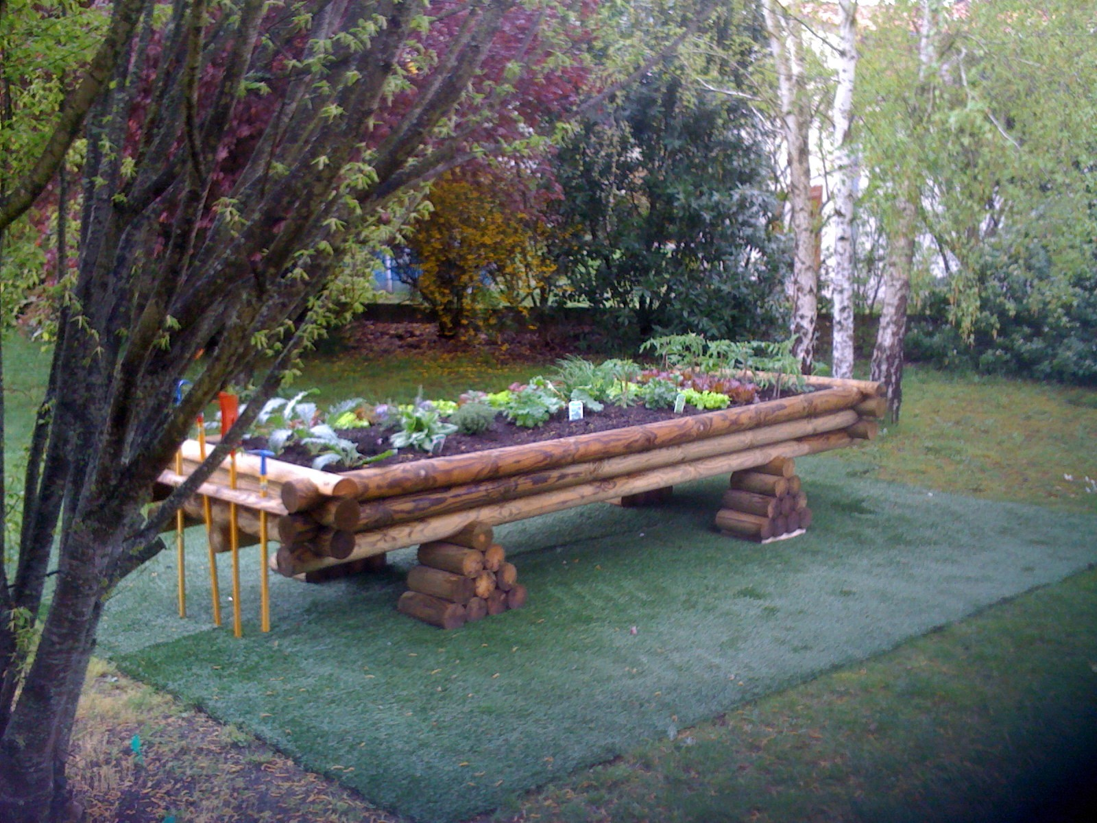 jardinière haute bois