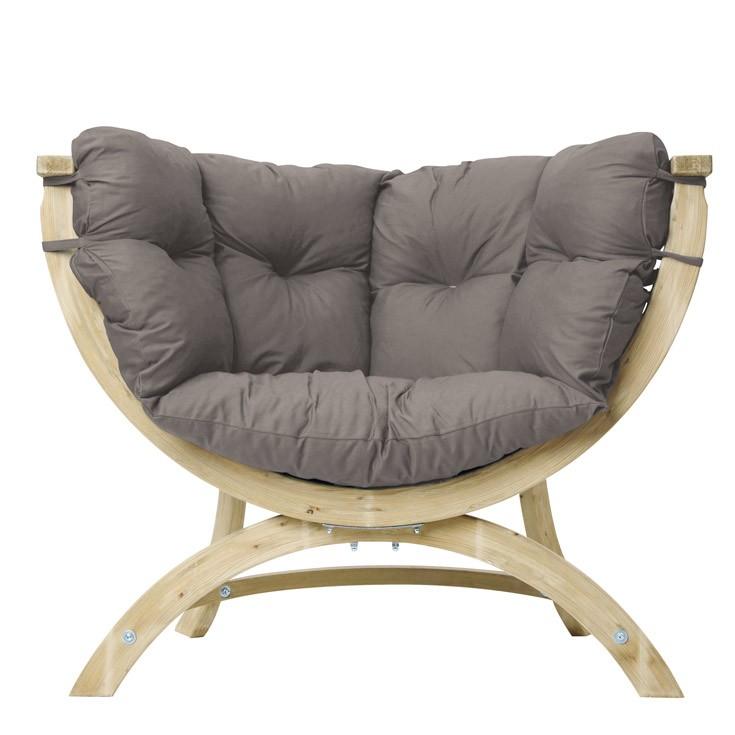 fauteuil de jardin forme oeuf ou demi sphere