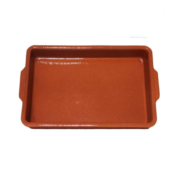 Plat en terre cuite pour four
