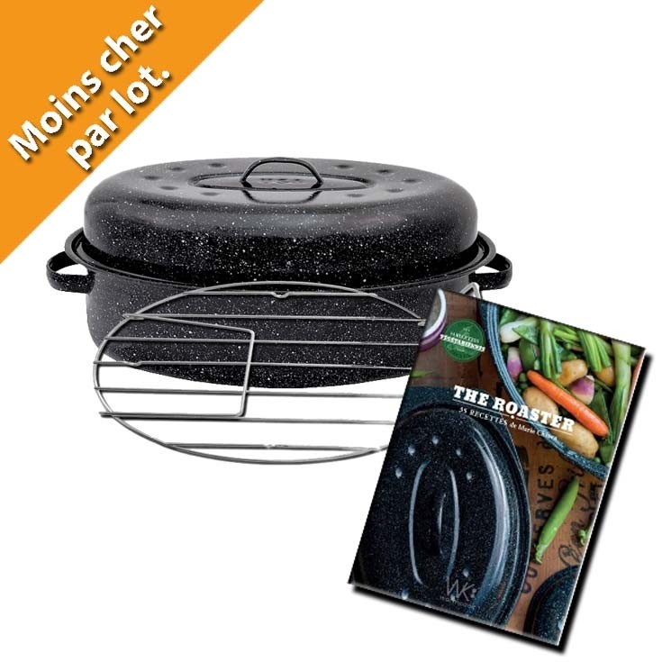 Cocotte roaster grille et livret recettes