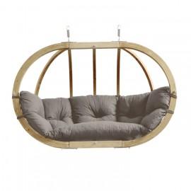 Balancelle ovale bois-taupe-etanche