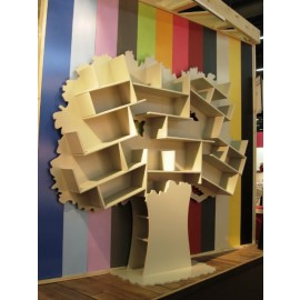 Bibliothèque arbre Tess - bois MDF brut 18 mm
