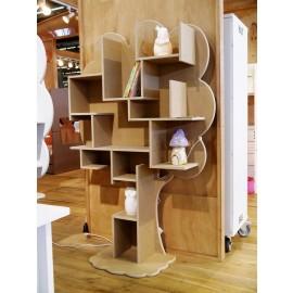 Bibliothèque arbre Louane - bois MDF brut 18 mm
