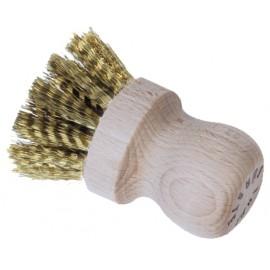 Brosse de nettoyage en bois naturel et laiton