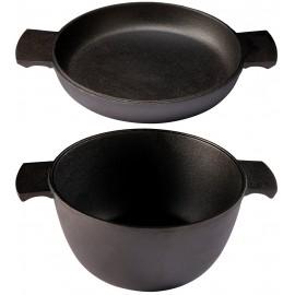 Cocotte en fonte Grystapel 3 litres + couvercle / plat en fonte