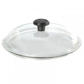 Couvercle pyrex diam. 28 cm avec poignée fonte