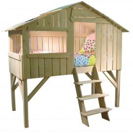 lit enfant cabane en bois
