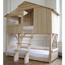 lit superposé enfant en bois
