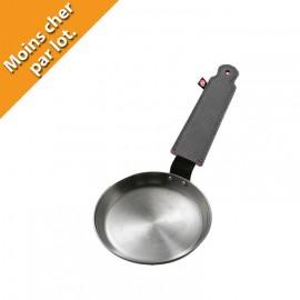poêle à blinis en fer, poêle a pancake en fer épais
